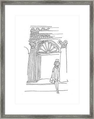 New Yorker June 10th, 1944 Framed Print by Saul Steinberg