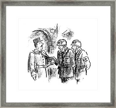 New Yorker October 28th, 1944 Framed Print by Alan Dunn