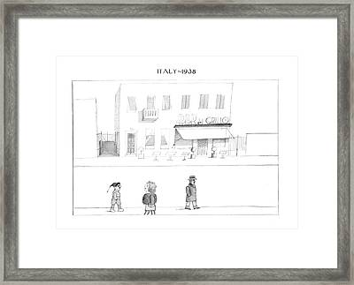 New Yorker October 7th, 1974 Framed Print by Saul Steinberg