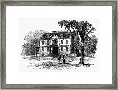 Newark Schuyler Mansion Framed Print by Granger