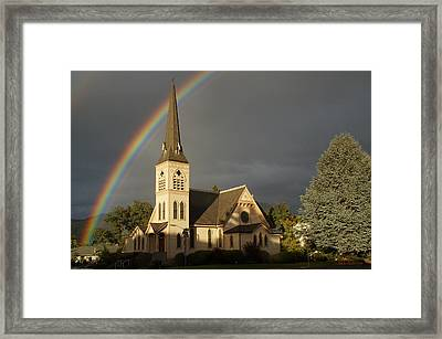 Newman United Methodist Church Framed Print by Mick Anderson