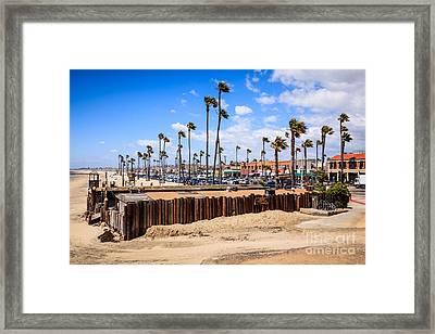 Newport Beach Dory Fishing Fleet Market Framed Print