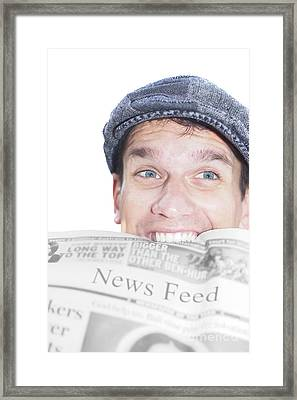 News Feed Framed Print by Jorgo Photography - Wall Art Gallery