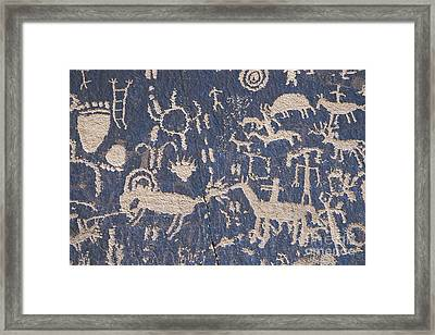Newspaper Rock Framed Print by Chris Selby