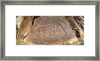 Newspapr Rock Petroglyphs, Utah Framed Print