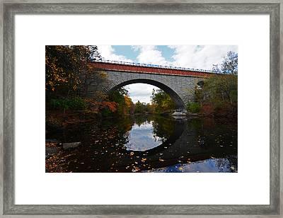 Newton Upper Falls Autumn Foliage Framed Print