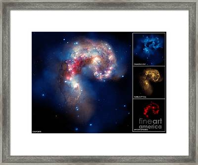 Ngc 4038ngc 4039, Antennae Galaxies Framed Print by Science Source