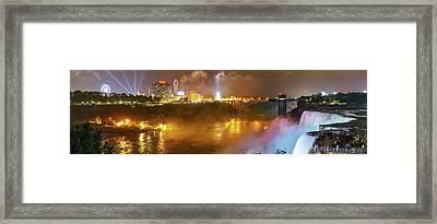 Niagara Falls At Night Framed Print by Babak Tafreshi