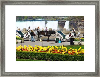 Niagara Falls Carriage Ride Framed Print by Rexford L Powell