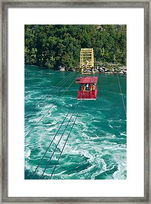 Framed Print featuring the photograph Niagara River Cable Car by Marek Poplawski
