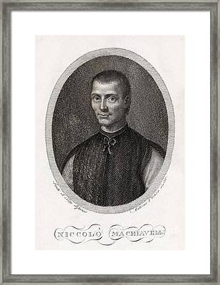 Niccolo Machiavelli, Italian Philosopher Framed Print by Middle Temple Library
