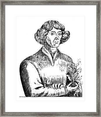Nicolaus Copernicus (1473-1543) Framed Print by Granger