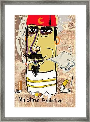 Nicotine Addiction Framed Print by Joe Jake Pratt