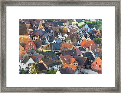 Niedermorschwihr, Alsace, France Framed Print by Peter Adams