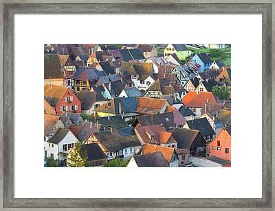Niedermorschwihr, Alsace, France Framed Print