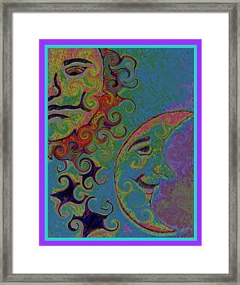 Night And Day Framed Print by Rebecca Flaig