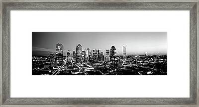 Night, Dallas, Texas, Usa Framed Print