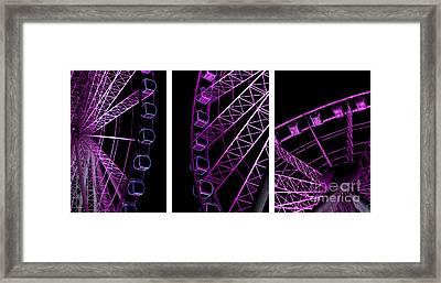 Night Ferris Wheel Framed Print