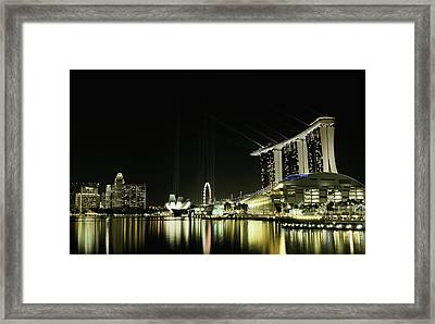 Night In The City Framed Print by Hardibudi