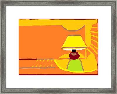 Night Lamp  Framed Print by Anita Dale Livaditis