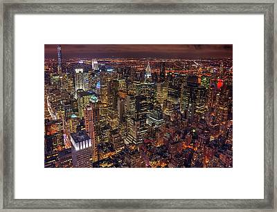 Night Life Framed Print by Milton Mpounas