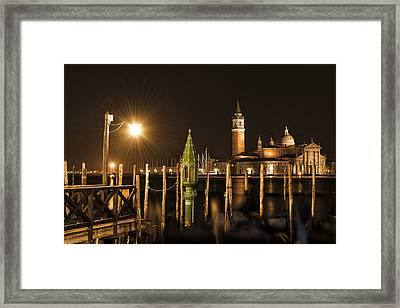 Framed Print featuring the photograph Night Lights by Marion Galt