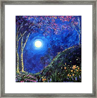 Night Lilies Framed Print