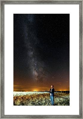 Night Sky In Dark Sky Reserve Framed Print by Babak Tafreshi