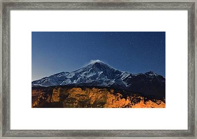 Night Sky Over Mount Damavand Framed Print by Babak Tafreshi