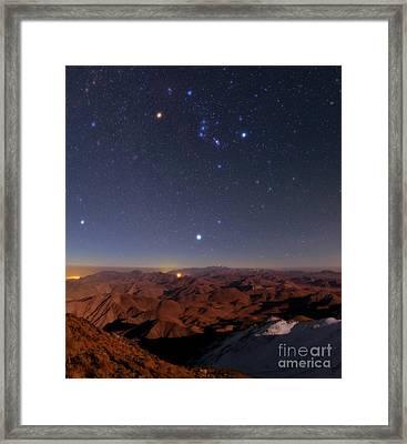 Night Sky, Zagros Mountains, Iran Framed Print by Babak Tafreshi