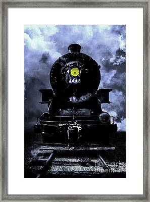 Night Train Essex Valley Railroad Framed Print by Edward Fielding