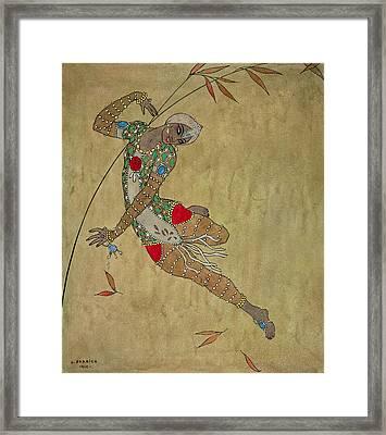 Nijinsky In Le Festin L'oiseau D'or Framed Print by Georges Barbier