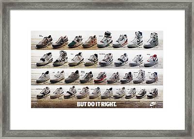 Nike Advertisement, 1988 Framed Print by Granger