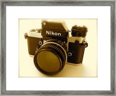 Nikon F2 Classic Camera Framed Print by John Colley
