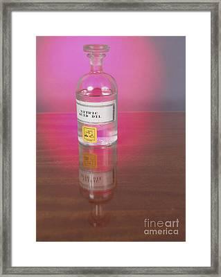 Nitric Acid Framed Print by Andrew Lambert Photography