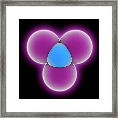 Nitrogen Triiodide Molecule Framed Print