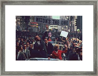 Nixon 1968 Presidential Campaign Framed Print by Everett