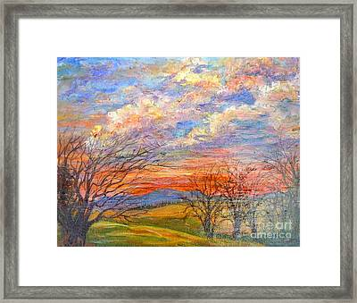 Framed Print featuring the painting Nixon's Descenting Sun by Lee Nixon