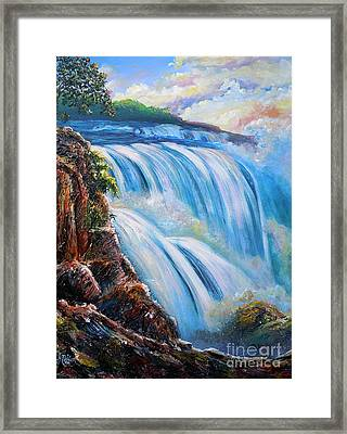 Nixon's Surging Flow Of Immense Power And Beauty Framed Print