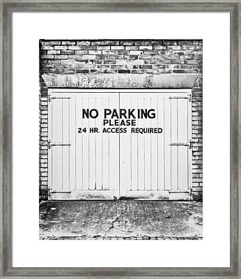 No Parking Framed Print by Tom Gowanlock