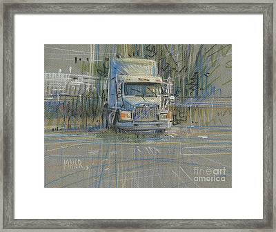 Framed Print featuring the painting No Trailer by Donald Maier