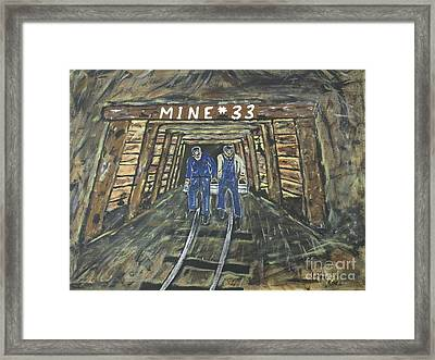 No Windows Down There In The Coal Mine .  Framed Print