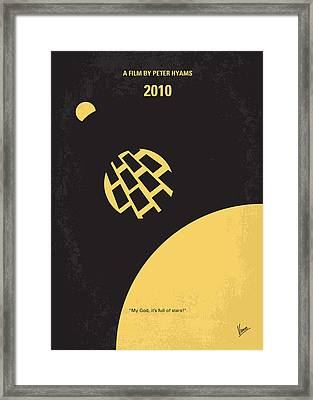 No365 My 2010 Minimal Movie Poster Framed Print by Chungkong Art