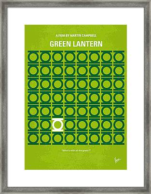 No120 My Green Lantern Minimal Movie Poster Framed Print