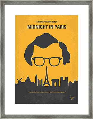 No312 My Manhattan Minimal Movie Poster Framed Print by Chungkong Art