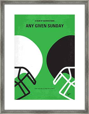 No420 My Any Given Sunday Minimal Movie Poster Framed Print by Chungkong Art