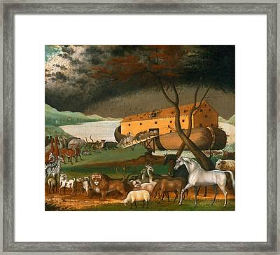 Noahs Ark Framed Print by Edward Hicks