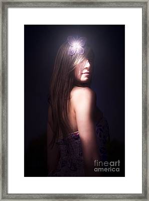 Nocturnal Nature Girl Framed Print by Jorgo Photography - Wall Art Gallery