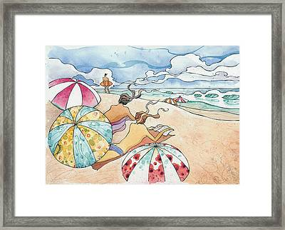 Noosa Ninnies Framed Print