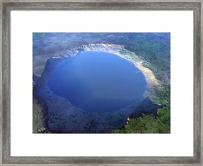 Nordlinger Ries Impact Crater, Artwork Framed Print by Science Photo Library